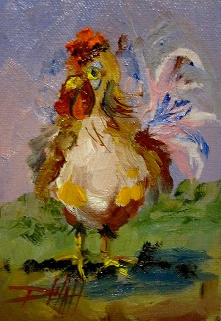Art: Little Rooster-sold by Artist Delilah Smith
