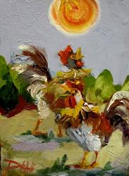 Art: Sunshine Rooster by Artist Delilah Smith