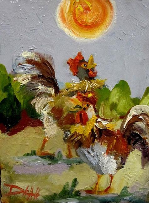 Art: Sunshine Rooster by Artist Delilah Smith
