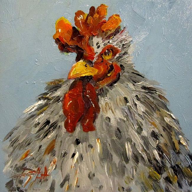 Art: Fat Rooster by Artist Delilah Smith