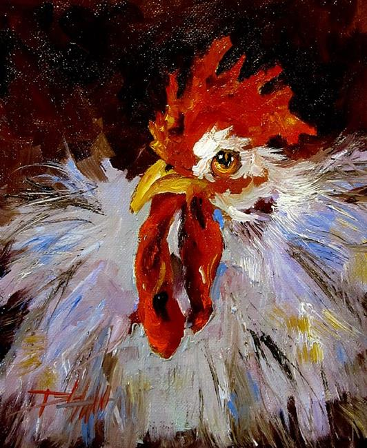 Art: Rooster No. 19 by Artist Delilah Smith