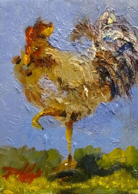 Art: No Spring Chicken by Artist Delilah Smith