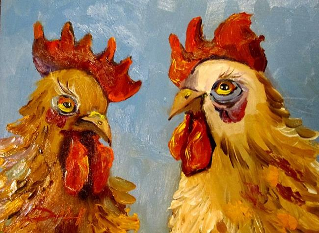 Art: Chicken Talk No. 2 by Artist Delilah Smith