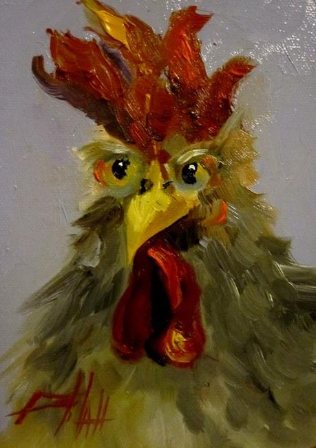 Art: Rooster No. 27 by Artist Delilah Smith