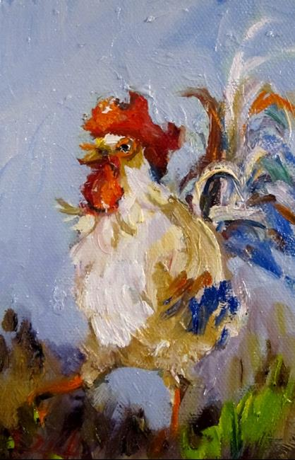 Art: Small Rooster by Artist Delilah Smith