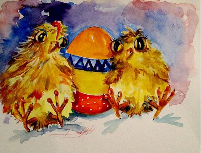 Art: Easter Chicks by Artist Delilah Smith