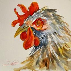 Art: Rooster-sold by Artist Delilah Smith