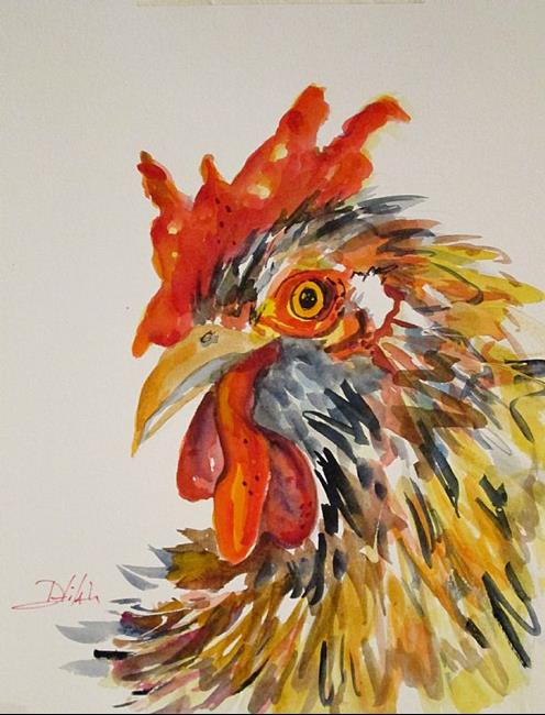 Art: Rooster No. 6-SOLD by Artist Delilah Smith