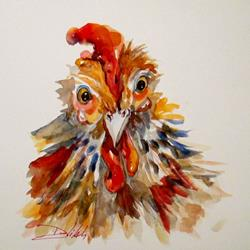 Art: Rooster No. 7-sold by Artist Delilah Smith