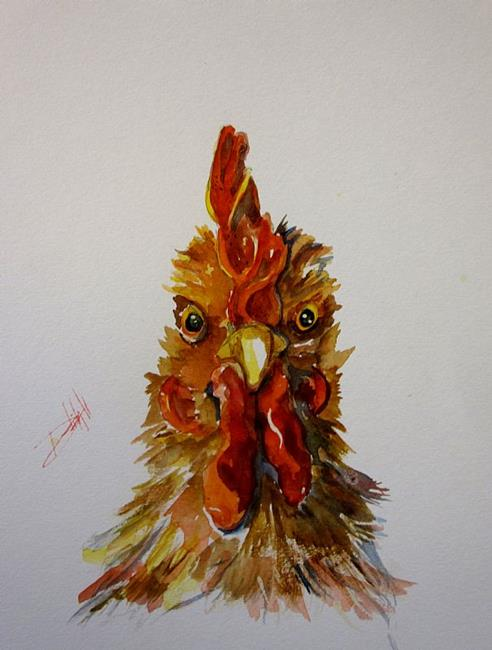 Art: Rooster No. 9 by Artist Delilah Smith