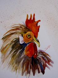 Art: Rooster No.11 by Artist Delilah Smith
