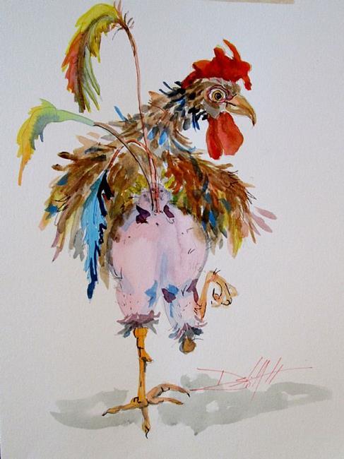 Art: Chicken Trot by Artist Delilah Smith
