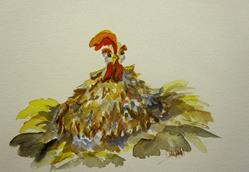 Art: A Big Fat Hen by Artist Delilah Smith