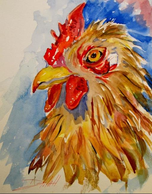 Art: Rooster No. 4 by Artist Delilah Smith