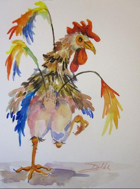 Art: Chicken Trot No. 2 by Artist Delilah Smith