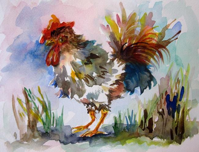 Art: Fancy Rooster by Artist Delilah Smith