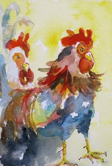 Art: Roosters by Artist Delilah Smith
