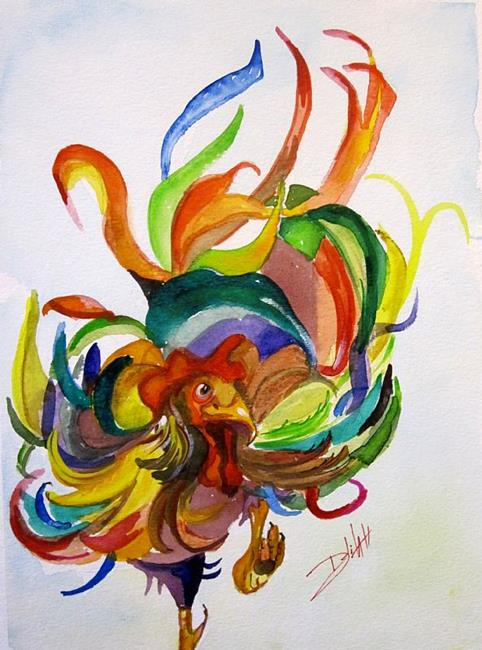 Art: Fancy Feathers by Artist Delilah Smith