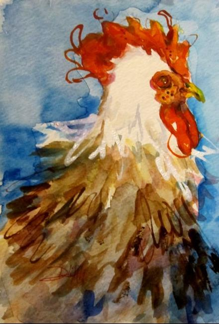 Art: Fall Rooster by Artist Delilah Smith