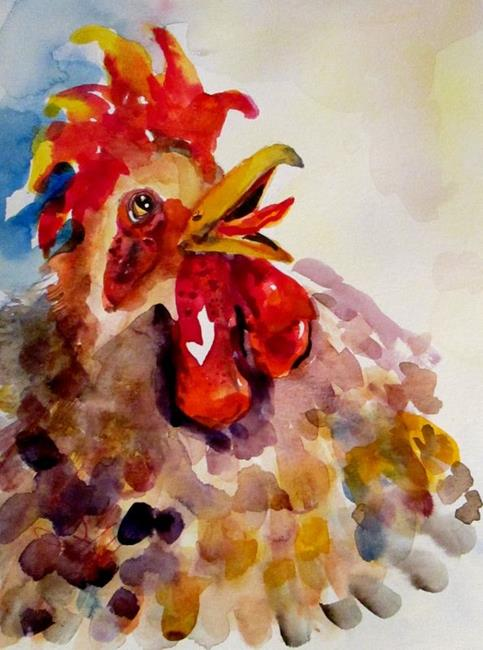 Art: Something to Cluck About by Artist Delilah Smith