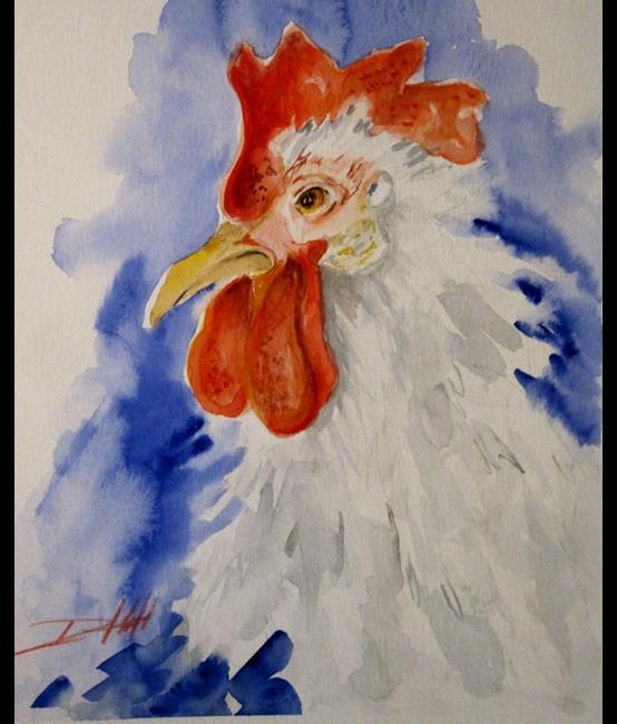 Art: Rooster No. 21 by Artist Delilah Smith