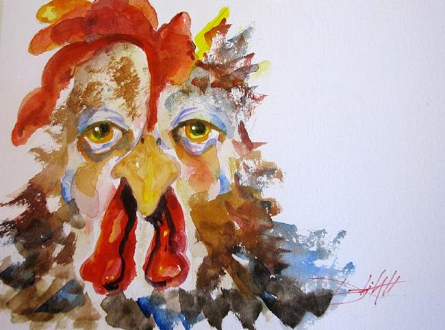 Art: Grumpy Rooster by Artist Delilah Smith