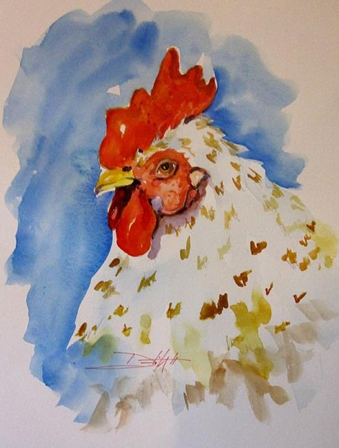 Art: Rooster No.24 by Artist Delilah Smith