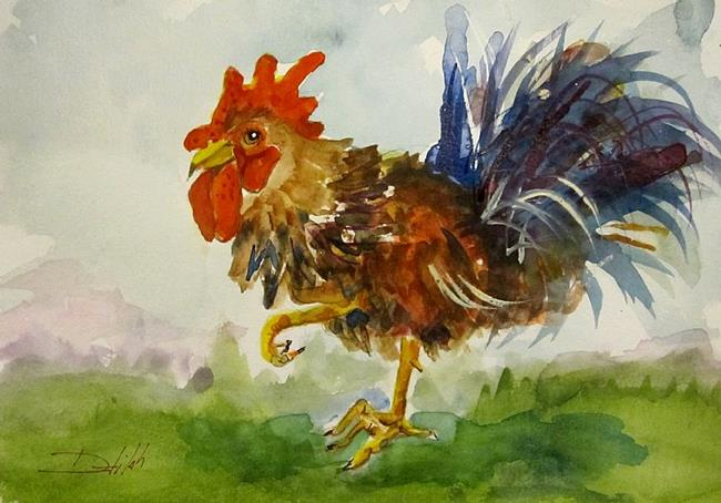 Art: Rooster No. 25 by Artist Delilah Smith