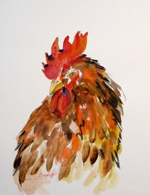 Art: Sly Old Rooster by Artist Delilah Smith