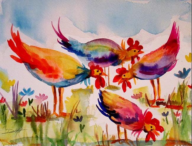 Art: Pecking Order by Artist Delilah Smith