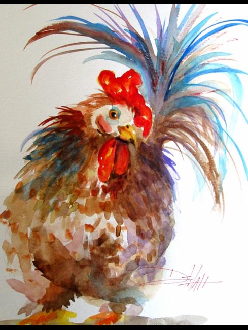 Art: Chubby Chicken by Artist Delilah Smith