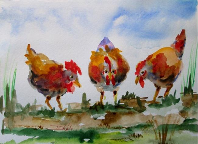 Art: Spring Chat by Artist Delilah Smith