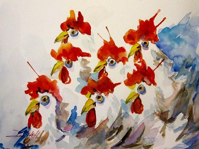 Art: Hen Party by Artist Delilah Smith