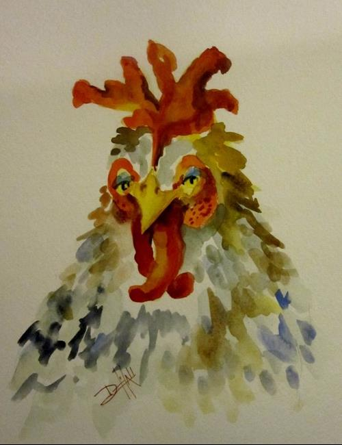 Art: A Big Fat Hen by Artist Delilah Smith