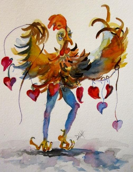Art: Chicken Love by Artist Delilah Smith