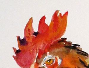Detail Image for art Sly Old Rooster