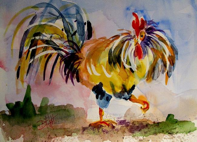 Art: Strutting Rooster by Artist Delilah Smith