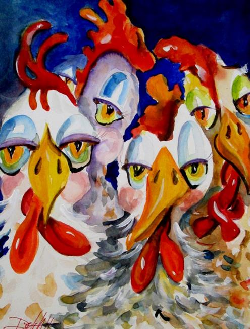 Art: Glad to be Chickens-sold by Artist Delilah Smith