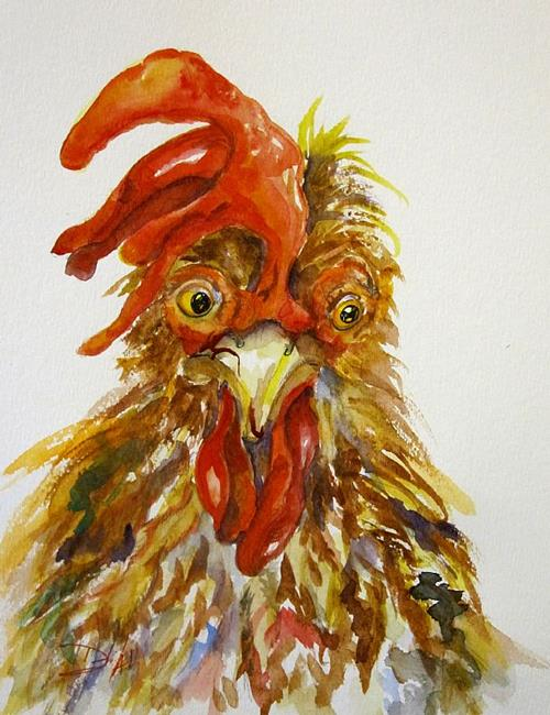Art: Rooster No. 12-SOLD by Artist Delilah Smith