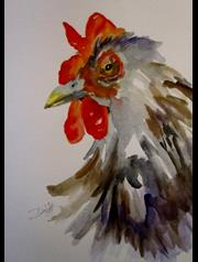 Art: Rooster No. 17 by Artist Delilah Smith