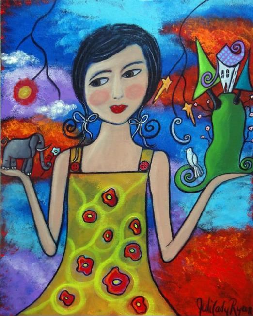 Art: Creating My World V by Artist Juli Cady Ryan