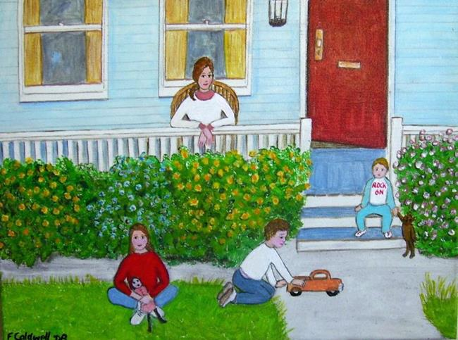 Art: Dad's Late Again (Not for Sale) by Artist Fran Caldwell
