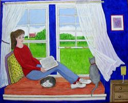 Art: Window Seat (Sold) by Artist Fran Caldwell
