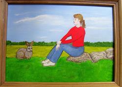 Art: Stay Perfectly Still by Artist Fran Caldwell