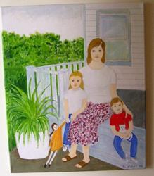 Art: Waiting for Dad (SOLD) by Artist Fran Caldwell