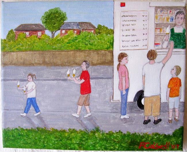 Art: Ice Cream Man! by Artist Fran Caldwell