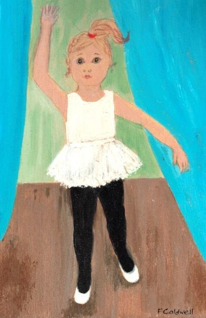 Art: Mandy Starts Ballet (Sold) by Artist Fran Caldwell