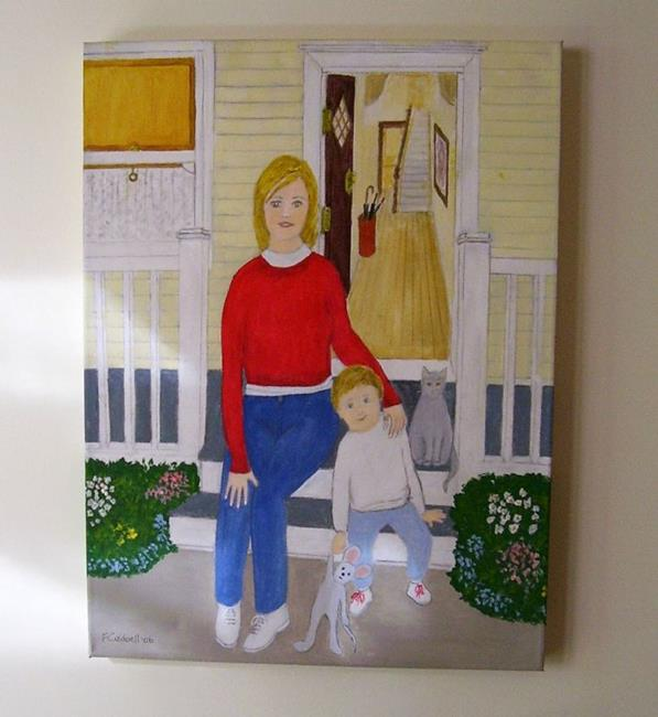 Art: Waiting for Gran (SOLD) by Artist Fran Caldwell