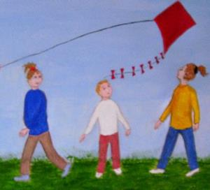 Detail Image for art Kite Day (SOLD)