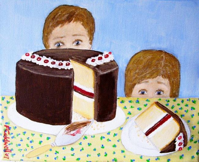 Art: The Cake (SOLD) by Artist Fran Caldwell